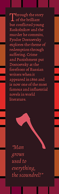Dostoyevsky Bookmark Series: Crime & Punishment: Back